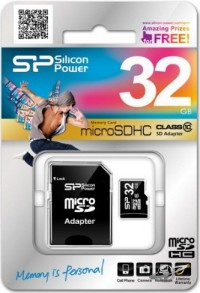 Silicon Power MicroSDHC 32GB Class 10 + Adapter купить в Харькове